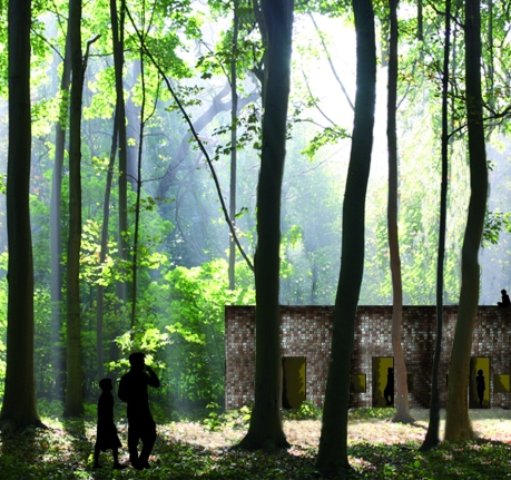 VTE kazerne met bos